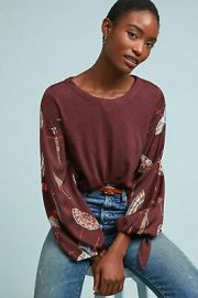 Maybelle Tied-Sleeve Top by Akemi Kin at Anthropologie