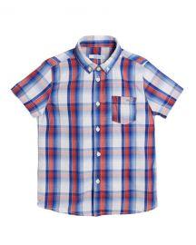 Mayoral Short-Sleeve Plaid Shirt  Size 4-7 at Neiman Marcus