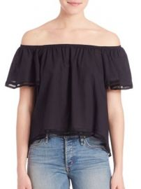 McGuire - Odeaon Ruffle Off-The Shoulder Top at Saks Fifth Avenue