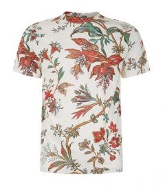 McQ Alexander McQueen Floral Embroidered T-shirt - Farfetch at Farfetch