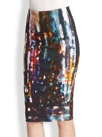 McQ Alexander McQueen - Blurry Lights Printed Stretch Cotton Pencil Skirt at Saks Fifth Avenue