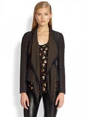 McQ Alexander McQueen - Draped Metallic Jacquard Scarf Jacket at Saks Fifth Avenue
