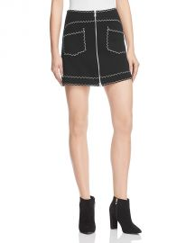 McQ Alexander McQueen A-Line Skirt black at Bloomingdales