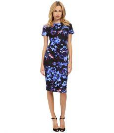 McQ Long Bodycon Dress Floral Print at 6pm