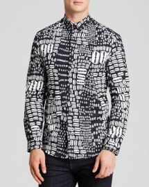 McQ Razor Print Button Down Shirt - Slim Fit at Bloomingdales