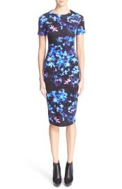 McQ by Alexander McQueen Floral Print Body-Con Dress at Nordstrom