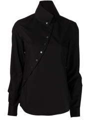 Mcq By Alexander Mcqueen Asymmetrical Button Down Shirt - Curve at Farfetch