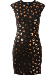 Mcq By Alexander Mcqueen Swallow Print Sweater Dress - Penelope at Farfetch