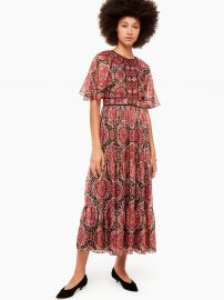 Medallion Metallic Midi Dress at Kate Spade