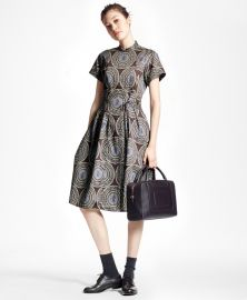 Medallion Shirt Dress at Brooks Brothers