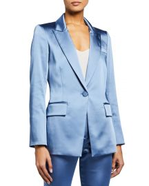 Medi Satin Jacket by Veronica Beard at Neiman Marcus