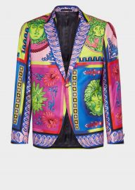 Medusa Pop Foulard Print Jacket by Versace at Versace