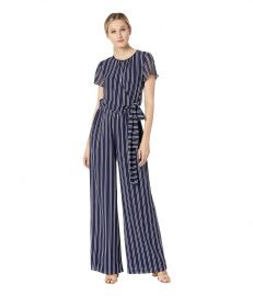 Mega Railroad Stripe Jumpsuit at Zappos