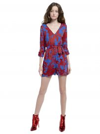 Melia Roll Cuff Romper at Alice and Olivia
