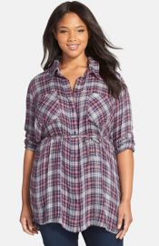 Melissa McCarthy Seven7 Belted Plaid Tunic at Nordstrom