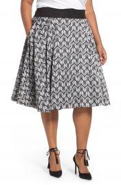 Melissa McCarthy Seven7 Bird Print Full Skirt  Plus Size at Nordstrom