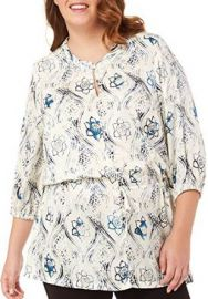 Melissa McCarthy Seven7 Plus Hungary Print Top at Amazon