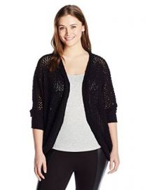 Melissa McCarthy Seven7 Womenand39s Plus-Size Open Stitch Cocoon at Amazon