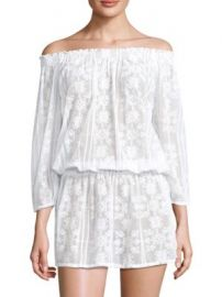 Melissa Odabash - Olivia Off-The-Shoulder Blouson Dress at Saks Fifth Avenue