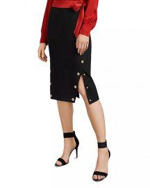 Melora Button Trim Pencil Skirt at Bloomingdales
