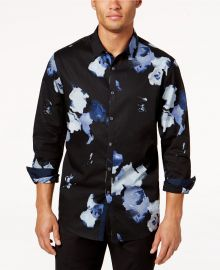 Men\'s Abstract Floral Shirt by INC International Concepts at Macys
