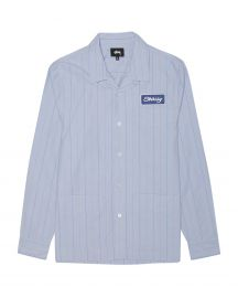 Men\'s Blue Work Shirt by Stussy at Stussy