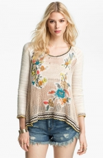 Menagerie embroidered sweater by Free People at Nordstrom