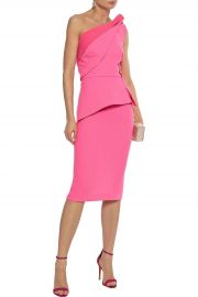 Mendes One-Shoulder Pleated Dress by Roland Mouret at The Outnet