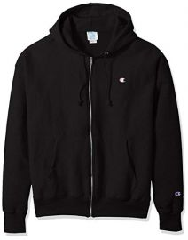 Mens Life Reverse Weave Full-Zip Hoodie by Champion at Amazon