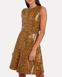 Mercy Snake-Embossed Leather Dress at Intermix