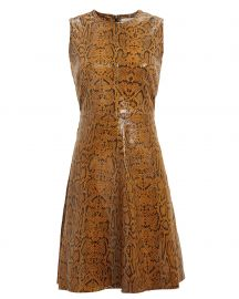 Mercy Snake-Embossed Leather Dress Notes du Nord at Intermix