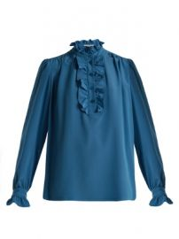Meredith ruffle-trimmed silk blouse at Matches