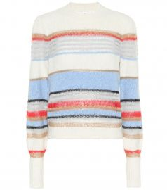 Meredith striped cotton-blend sweater at Mytheresa