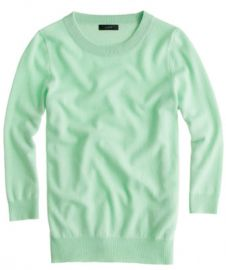 Merino wool Tippi sweater in Cafe Mint at J. Crew