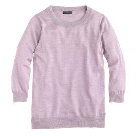 Merino wool Tippi sweater in Hthr Lavender at J. Crew