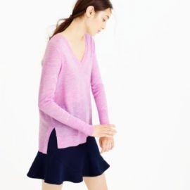 Merino wool V-neck tunic sweater at J. Crew