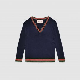 Merino wool knitted top by Gucci at Gucci
