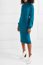 Merino wool turtleneck midi dress at Net A Porter