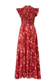 Merlot Monet Smocked Dress by Sea at Rent The Runway
