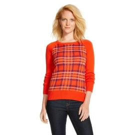 Merona Plaid Pullover Sweater at Target