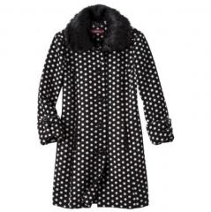 Merona polka dot coat at Target