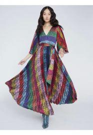 Meryl Pleated Maxi Dress by Alice + Olivia at Alice + Olivia