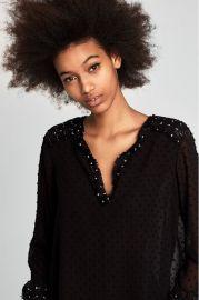 Mesh Embellished Top by Zara at Zara