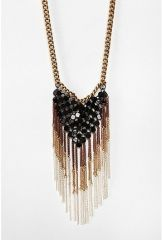 Mesh Fringe Necklace at Urban Outfitters