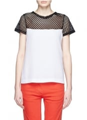 Mesh shoulder top by Sandro at Lane Crawford