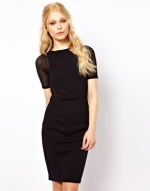 Mesh sleeve dress like Zoes at Asos