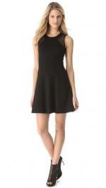 Mesh yoke dress by DKNY at Shopbop