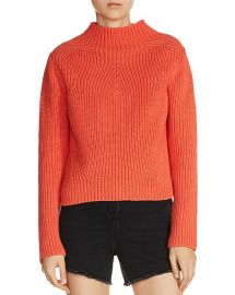 Metal Mock Neck Sweater at Bloomingdales