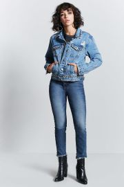 Metal Studded Denim Jacket by Forever 21 at Forever 21