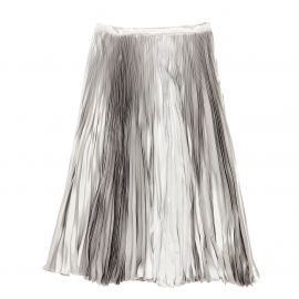 Metallic Pleated Skirt at Dior